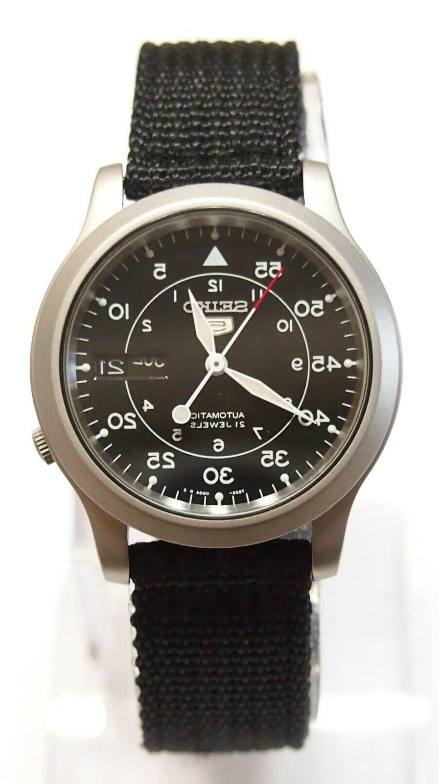 5 snk809 fabric band automatic men s