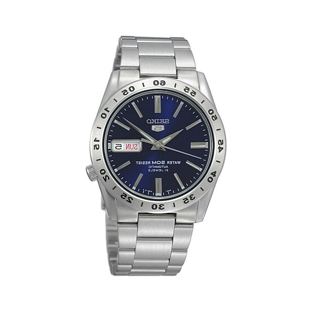 5 snkd99 automatic day date blue dial