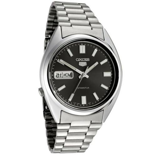 5 snxs79 automatic black dial stainless steel
