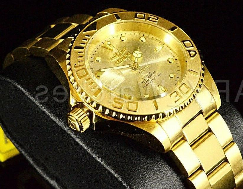 9010OB Men's Diver COIN EDGE Automatic Yellow Watch