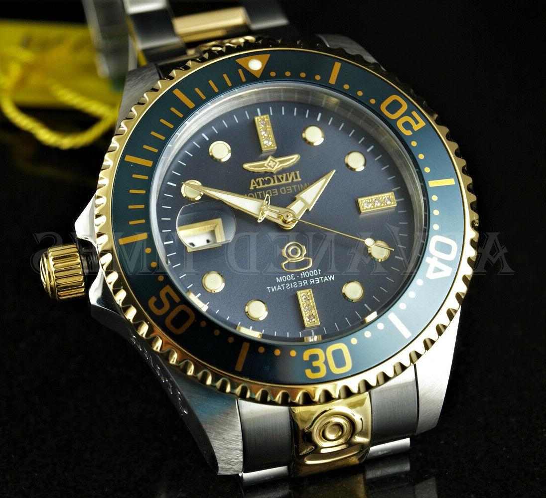 Invicta 47mm Grand Diver Automatic Diamond Accented Bracelet