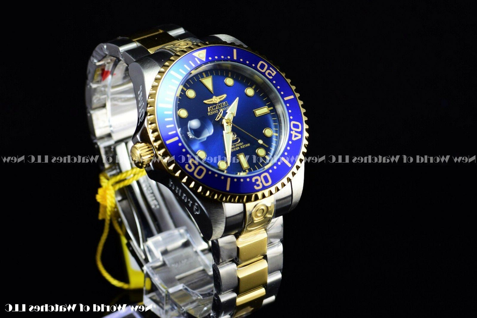 Invicta Men's Diver Two Blue SS Watch