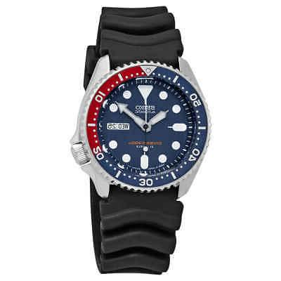 automatic diver blue dial pepsi bezel men