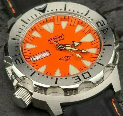automatic sea monster watch norway diver seiko
