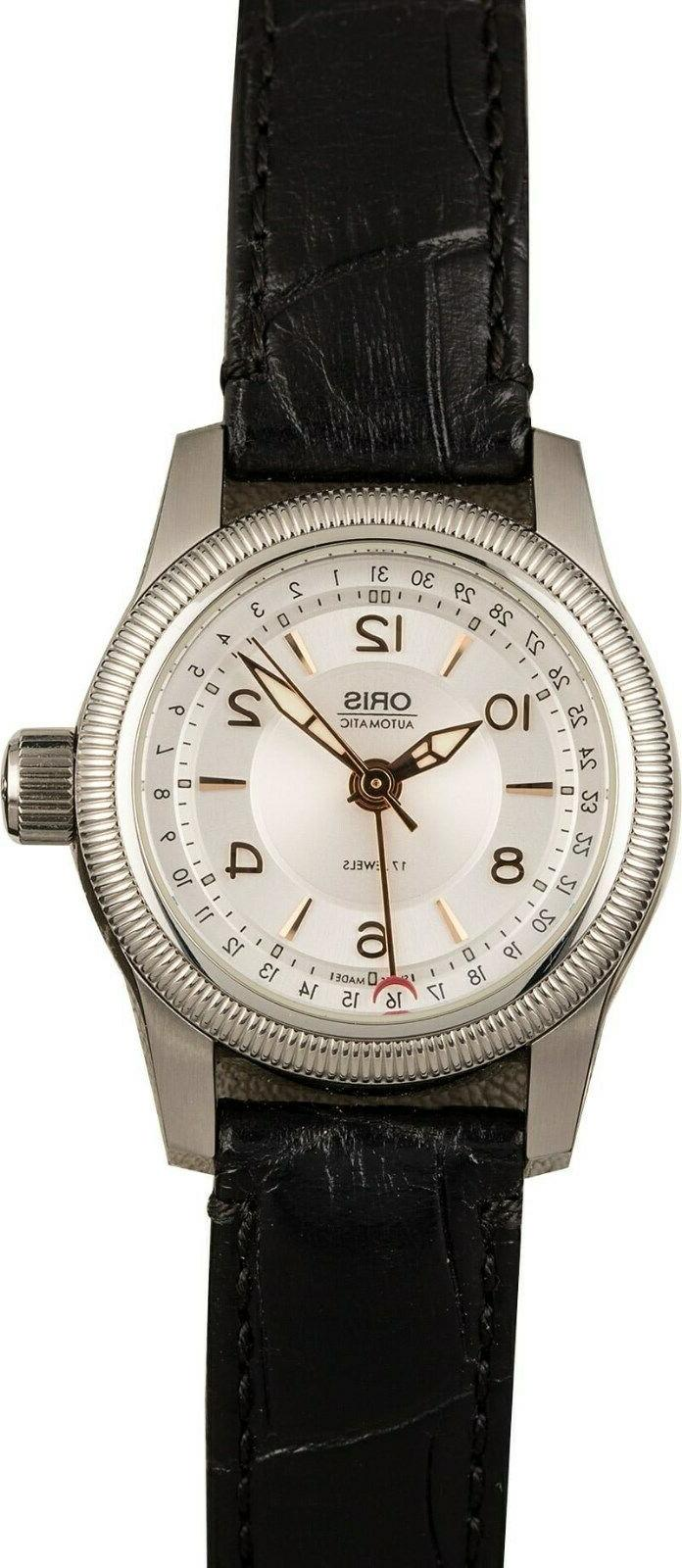 big crown pointer date automatic silver dial