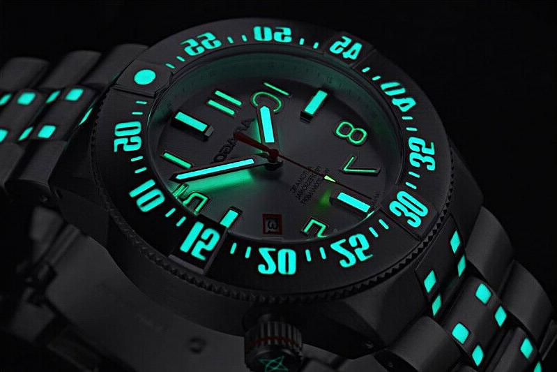 Aragon BioLuminescence Slvr & Blue Accent NH35 Automatic 44m