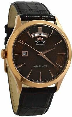 Orient Classic Automatic FEV0V002TH Brown Dial Brown Leather