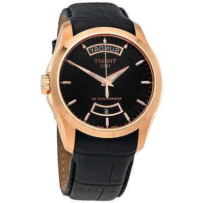 couturier automatic black dial watch t0354073605101