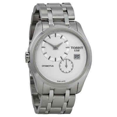 couturier white dial stainless steel automatic men