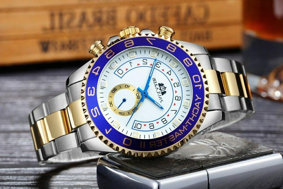homage mechanical watch yachtmaster automatic stainless stee