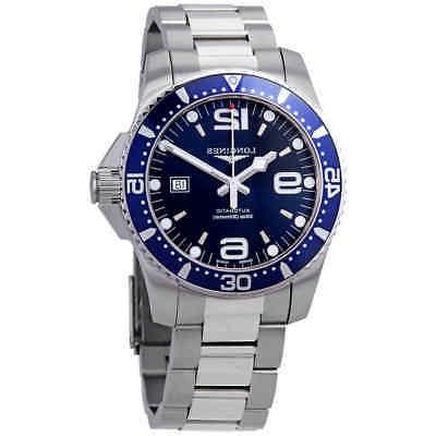 hydroconquest automatic blue dial 44 mm men