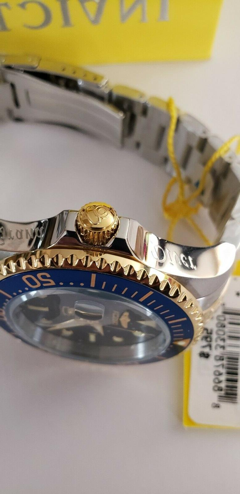 Invicta Men's Diver Tone Blue Dial Gold SS Watch