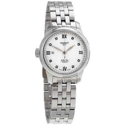 le locle automatic diamond silver dial ladies