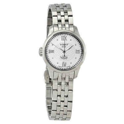 le locle silver diamond dial automatic ladies