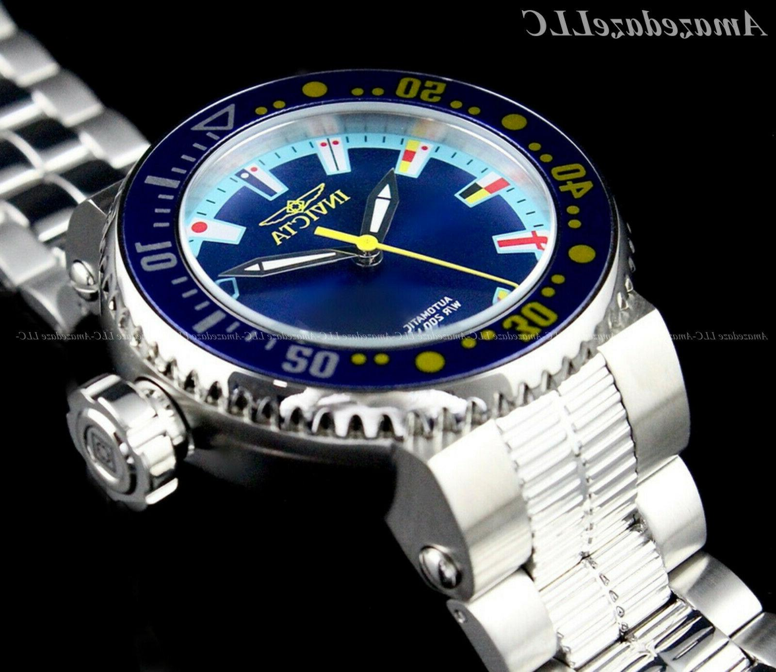 Invicta PRO DIVER Blue Dial Stainless Watch