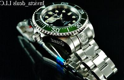 Invicta Men's 47mm GRAND DIVER Automatic Black Dial Green Be