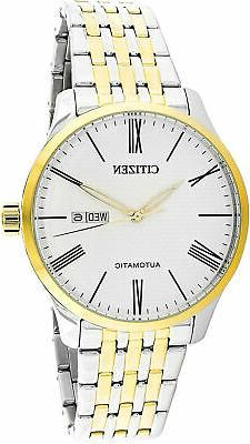 Citizen Men's NH8354-58A Silver Stainless-Steel Japanese Aut