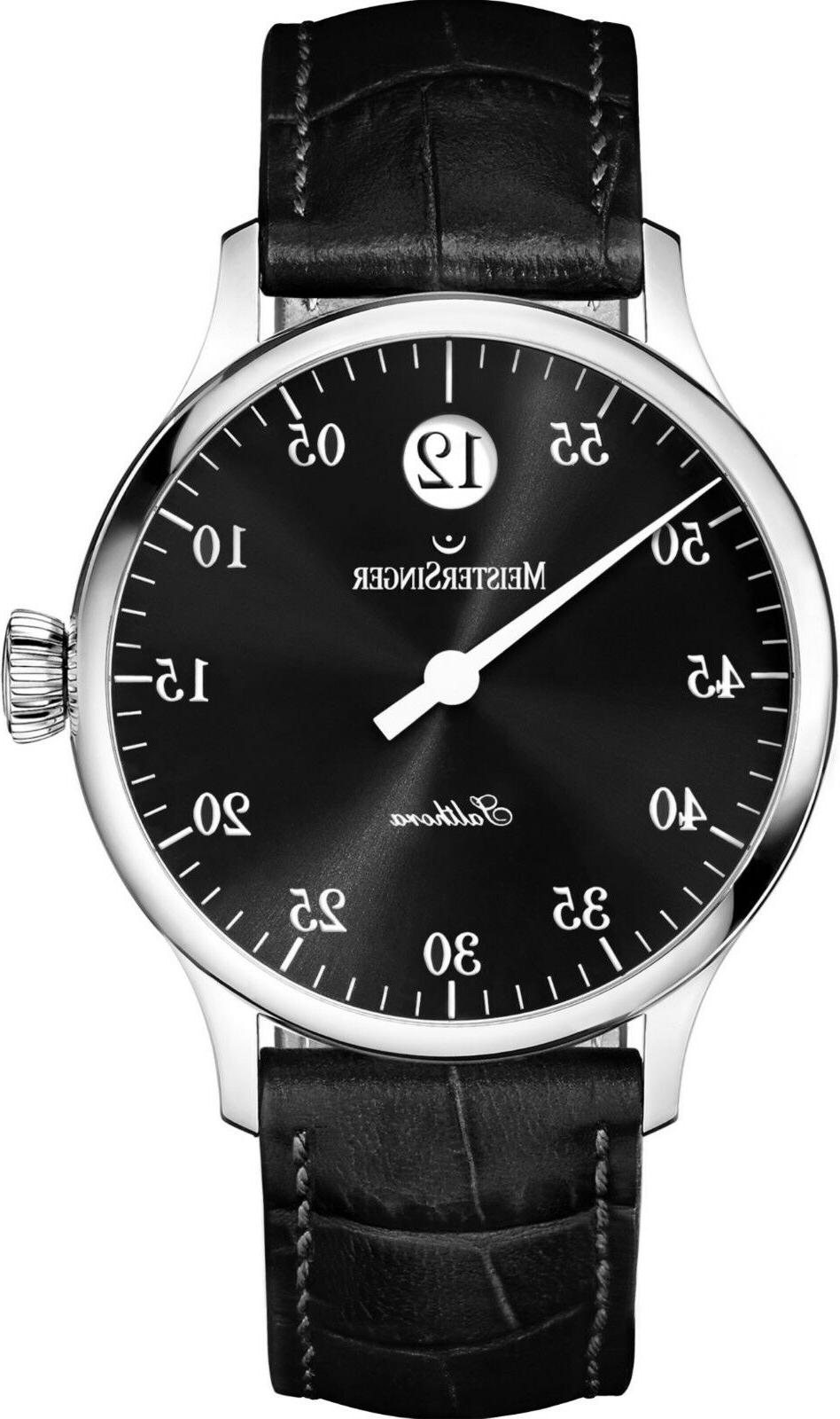 men s salthora leather strap jumping hour