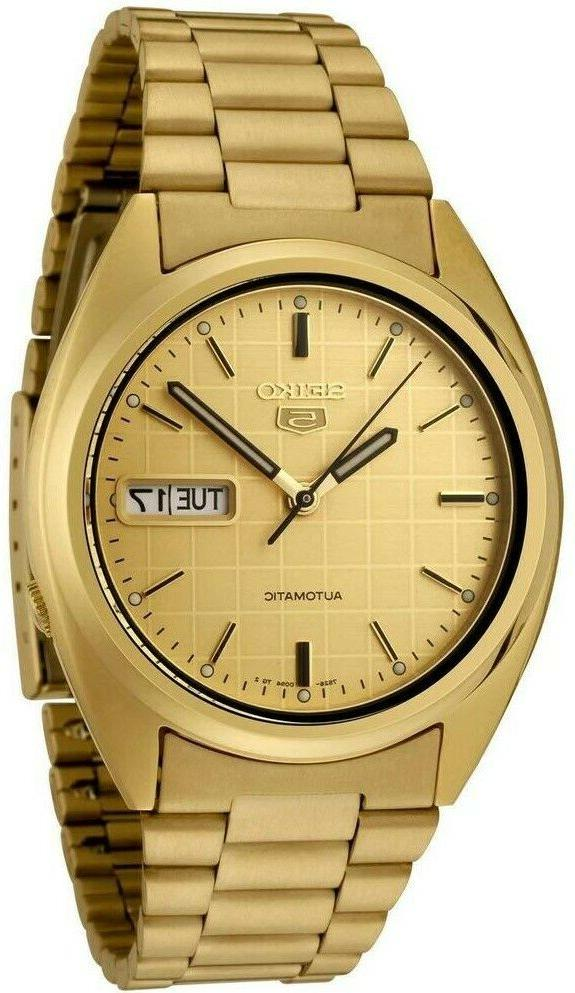 men s snxl72 5 automatic gold dial