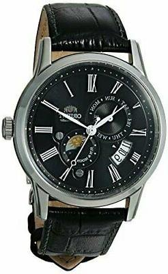 Orient Men's Sun and Moon Version 3 Automatic Watch Leather