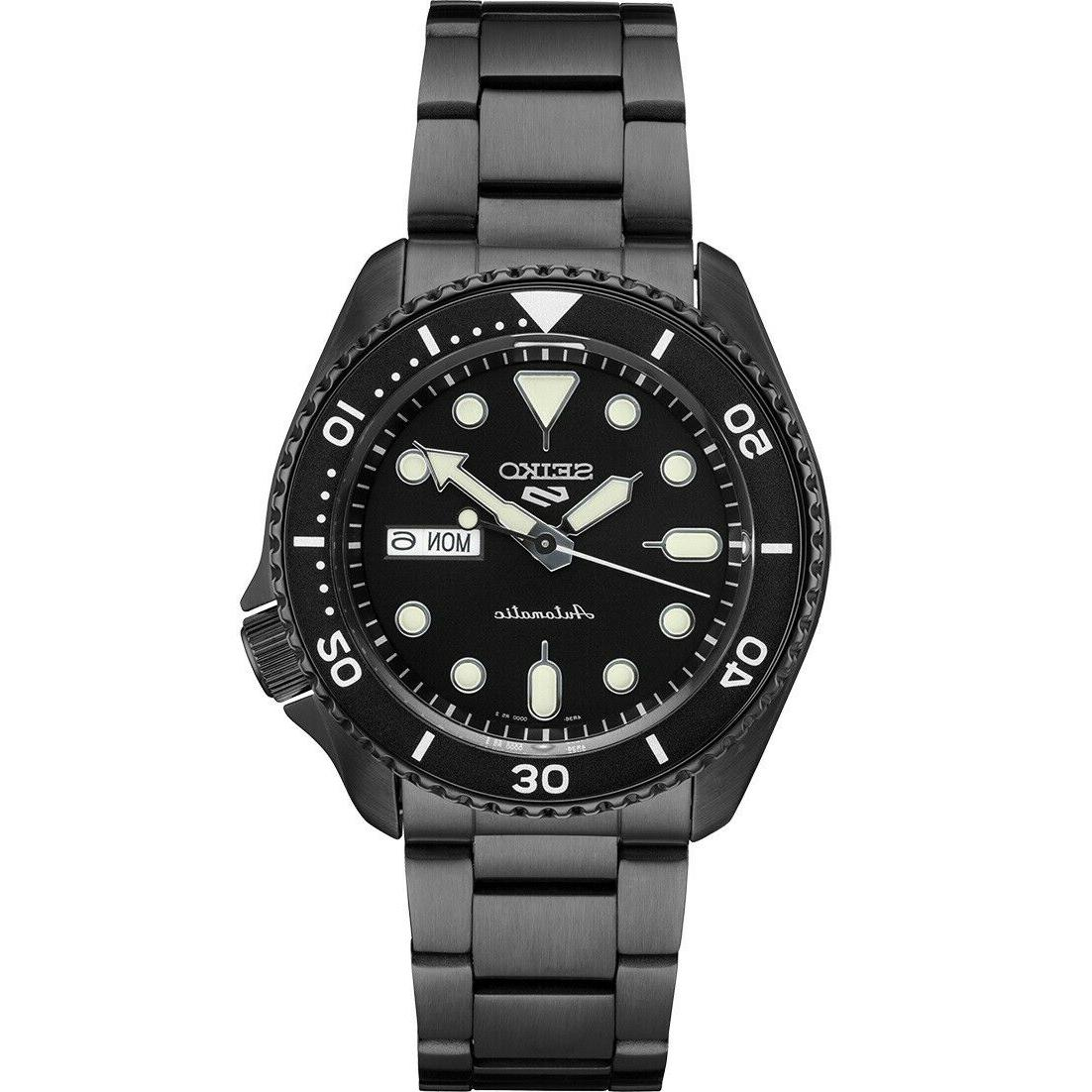 new 5 automatic black dial black pvd
