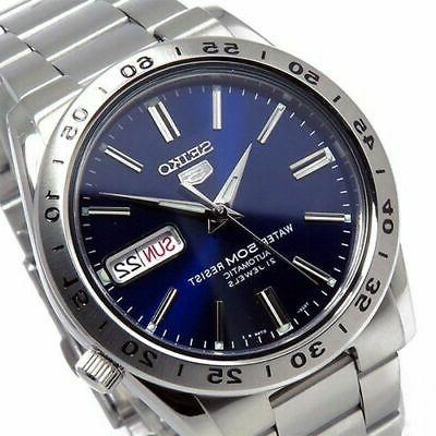 new 5 automatic blue dial stainless steel