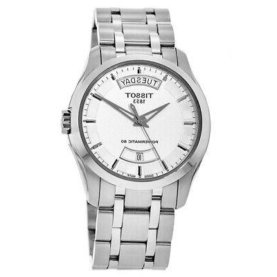 new couturier automatic silver day date men