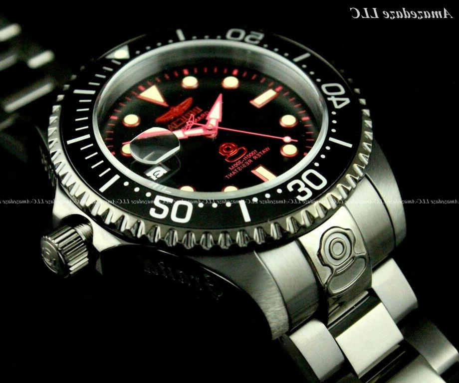 NEW Black Automatic Diver Stainless Steel Watch !!