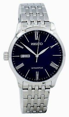 CITIZEN NH8350-59L Automatic Blue Dial Stainless Steel Brace