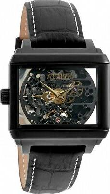 Invicta Objet D Art Automatic Black Skeleton Dial Men's Watc