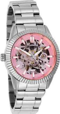 Invicta Objet D Art Automatic Pink Dial Ladies Watch 26360