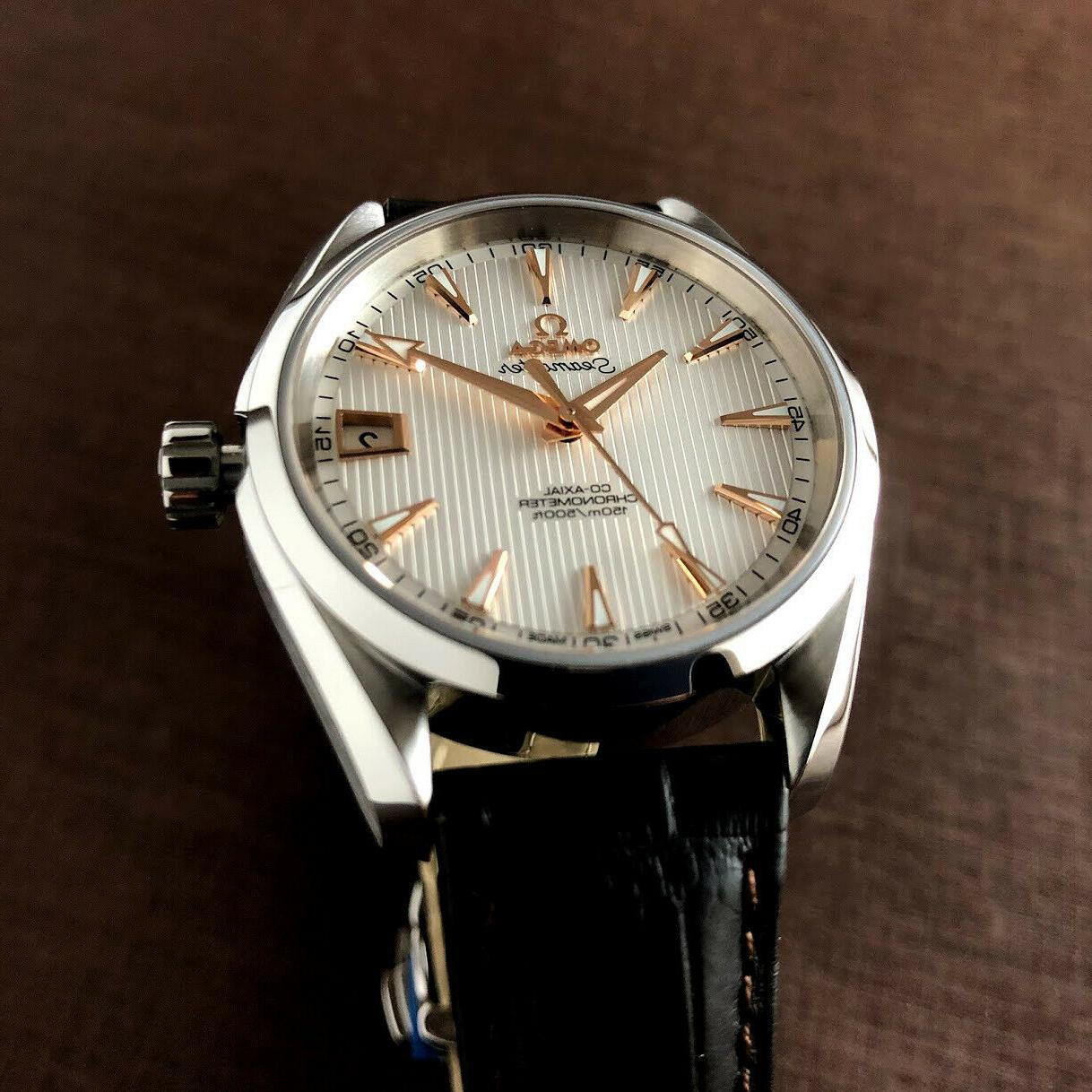 OMEGA Automatic Leather Men's Watch 23113392102002