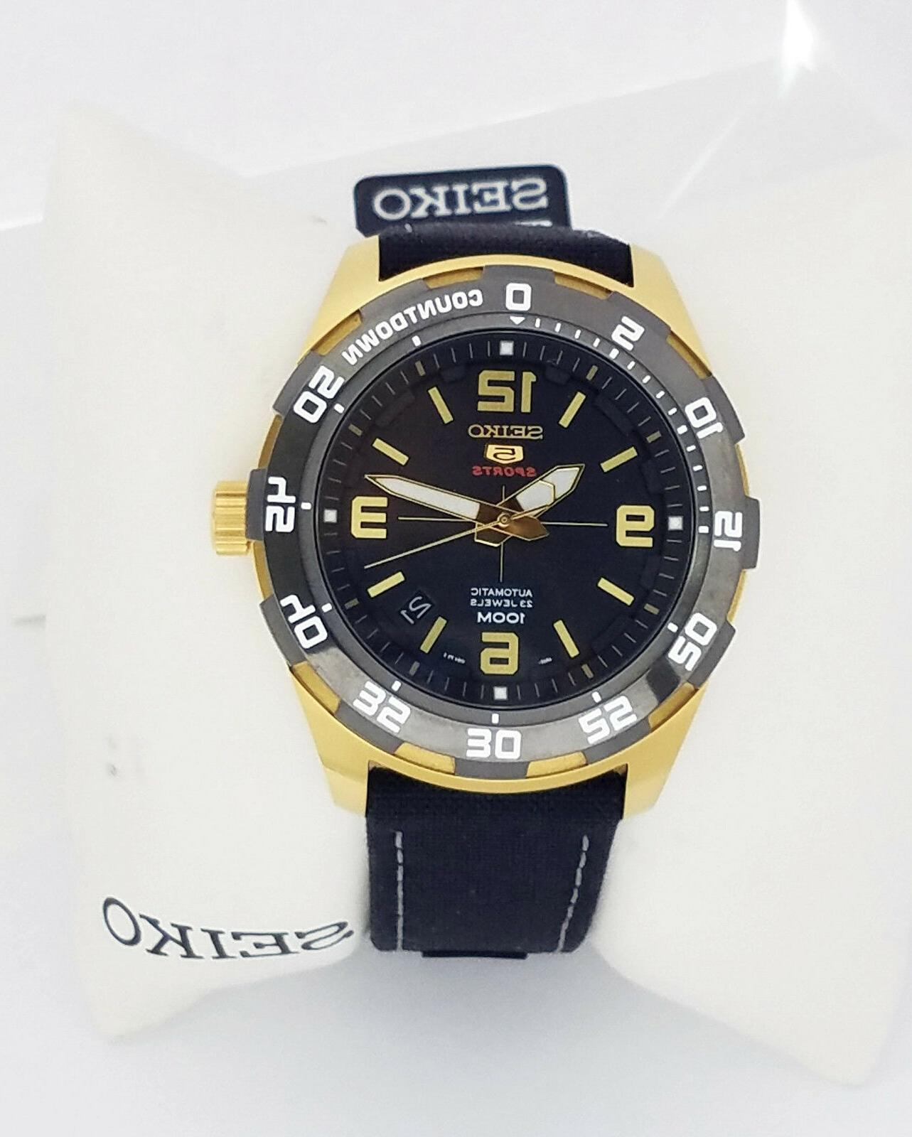 series 5 automatic black dial mens watch