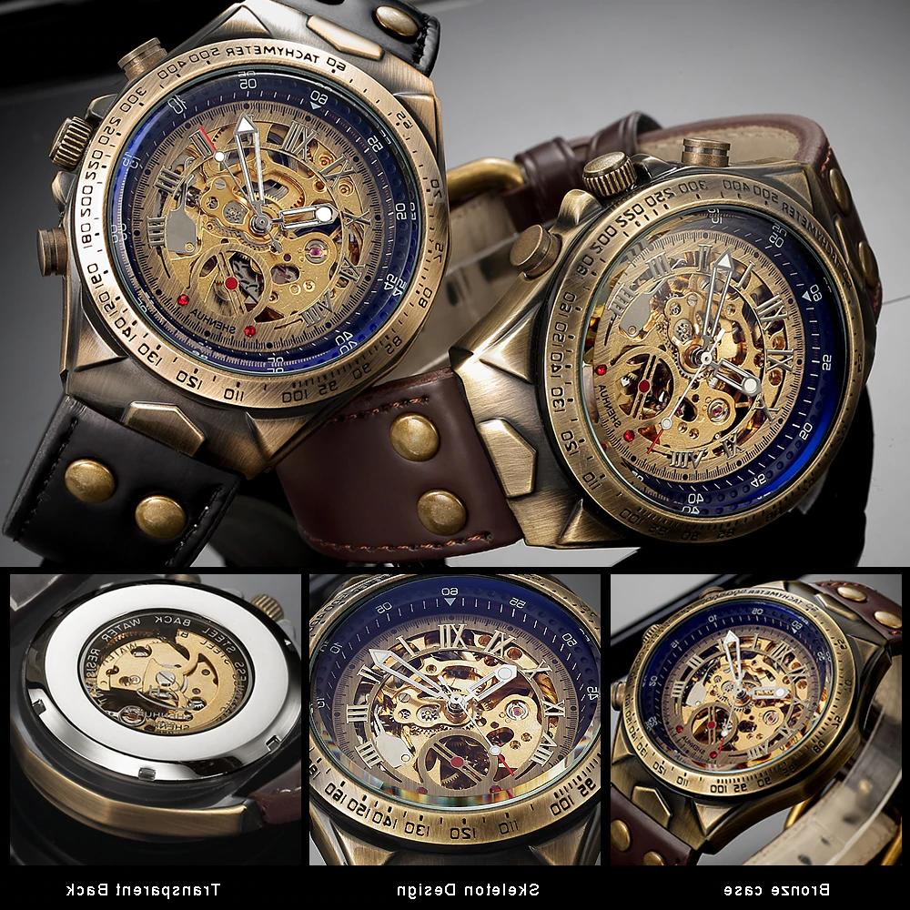 Steampunk Automatic Mechanical Leather Skeleton Transparent