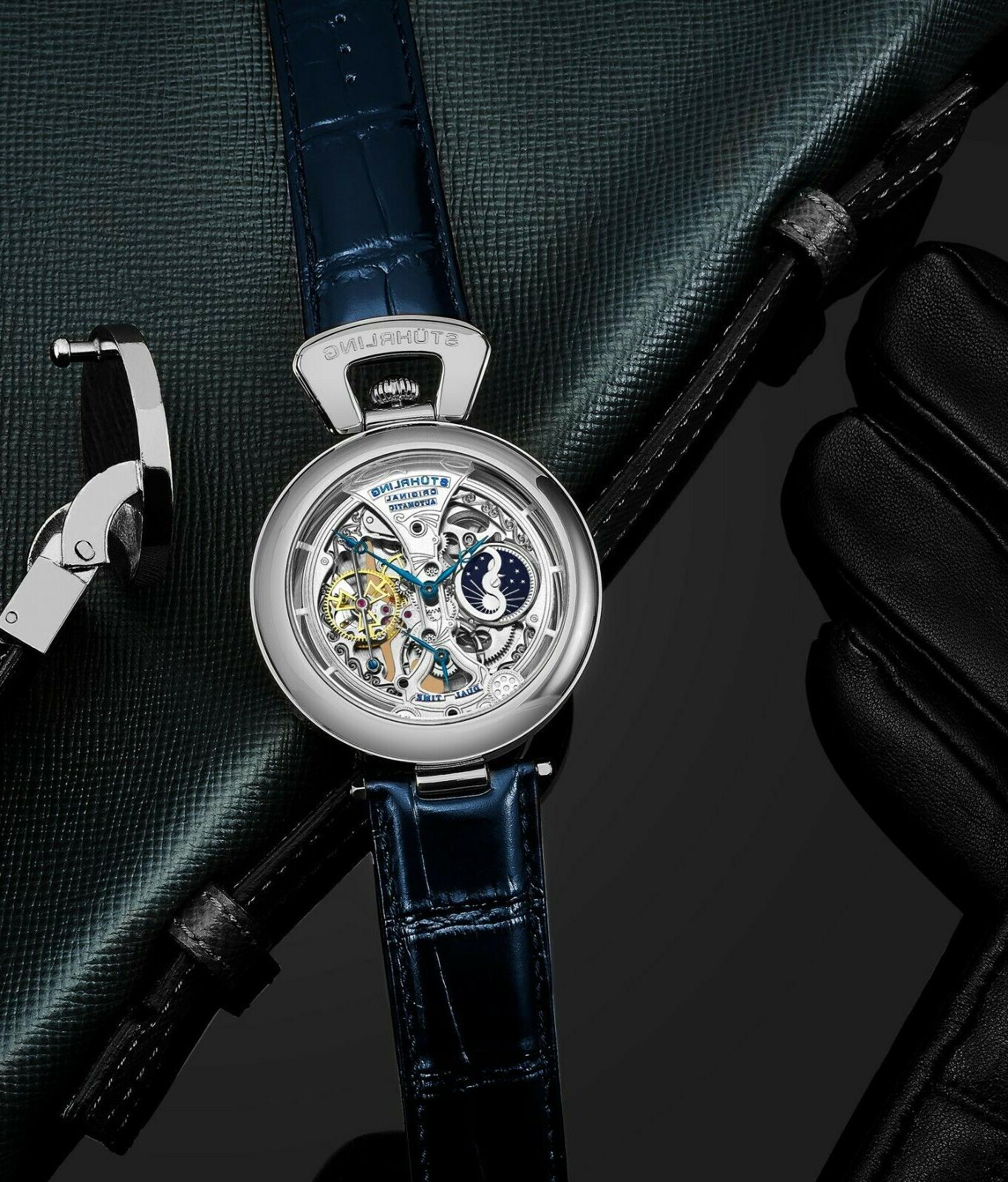 Stuhrling Emperor's Automatic Dual Time