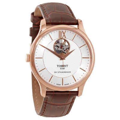 t classic tradition automatic silver dial men