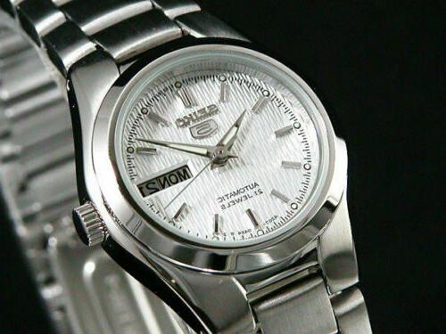 women automatic watch analogue display stainless steel