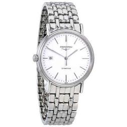Longines L49214126 Presence Automatic Mens Watch - White Dia