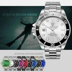 Luxury TEVISE Automatic Mechanical Watch Stainless Steel Spo