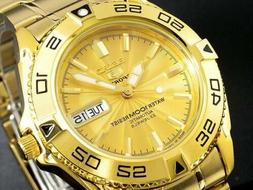 MADE in JAPAN SEIKO 5 SNZB26J1 Automatic 100m GOLD Original