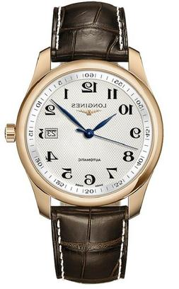 Longines Master Automatic 18K Rose Gold Alligator Strap Mens