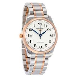 Longines Master Automatic Silver Dial Steel and 18kt Rose Go