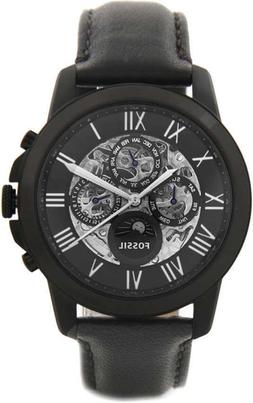 Fossil ME3028 Automatic Black Leather 44mm Men's Watch