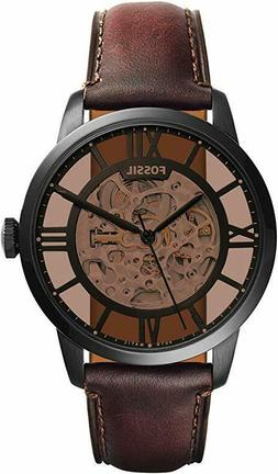 Fossil ME3098 Townsman Automatic Brown Skeleton Dial 44mm Me
