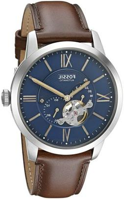 Fossil ME3110 Townsman Automatic Blue Satin Dial Brown leath