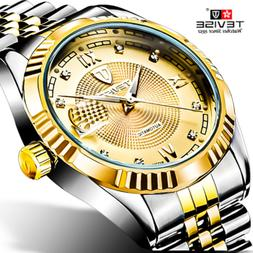 TEVISE Men Mechanical Watch Automatic Business Waterproof St