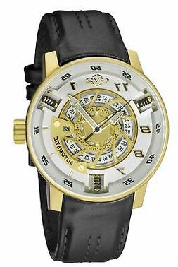 GV2 By Gevril Men's 1306 Motorcycle Sport Automatic Leather