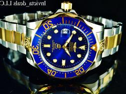 Invicta Men's 47mm GRAND DIVER Automatic Blue Dial Gold Plat