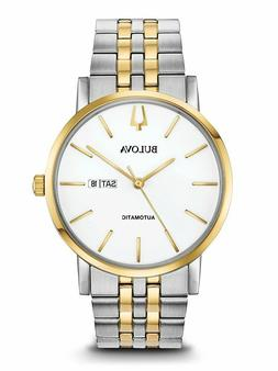 Bulova Men's American Clipper Automatic Two Tone Bracelet Wa