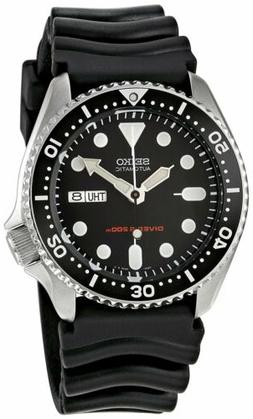 Seiko Men's Automatic Analogue Watch with Rubber Strap SKX00